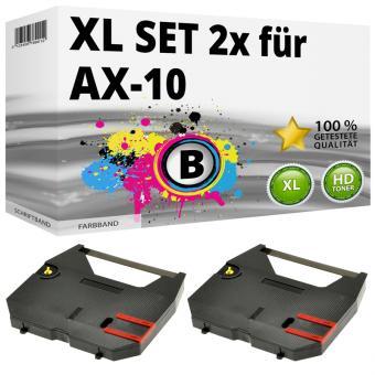Set 2x Alternativ Brother Farbband AX-10 Schwarz