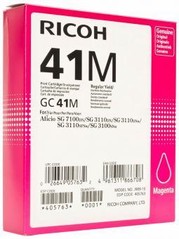 Original Ricoh Patronen GC 41M 405763 Magenta